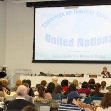 CTAUN Chair Anne-Marie Carlson welcomed conference participants